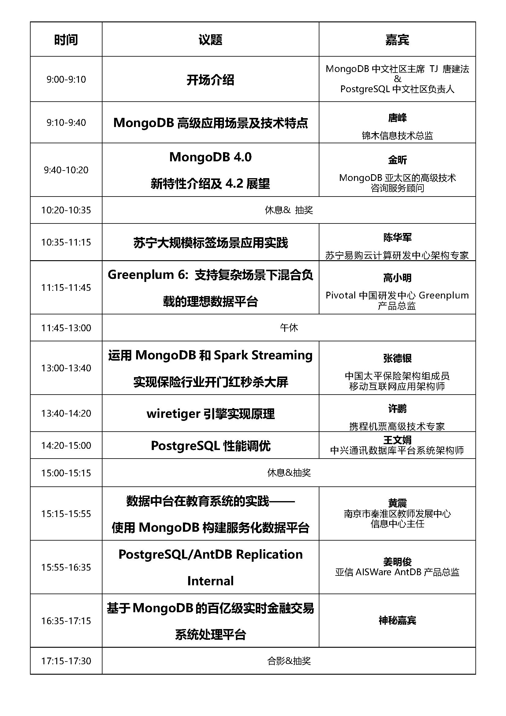 南京活动议程表