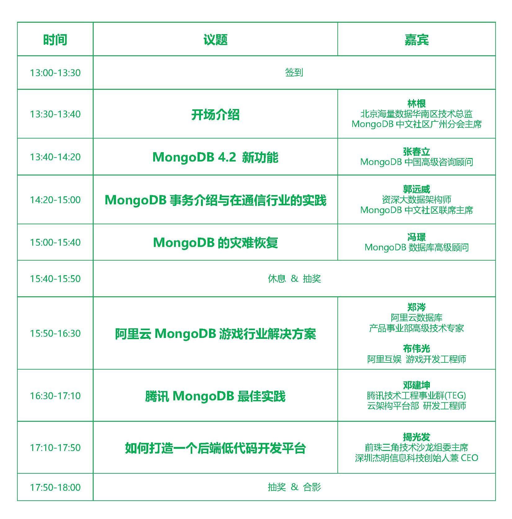 广州活动议程表